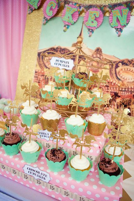 beats studio price Carousel Pink Gold and Mint Green Birthday Party Ideas