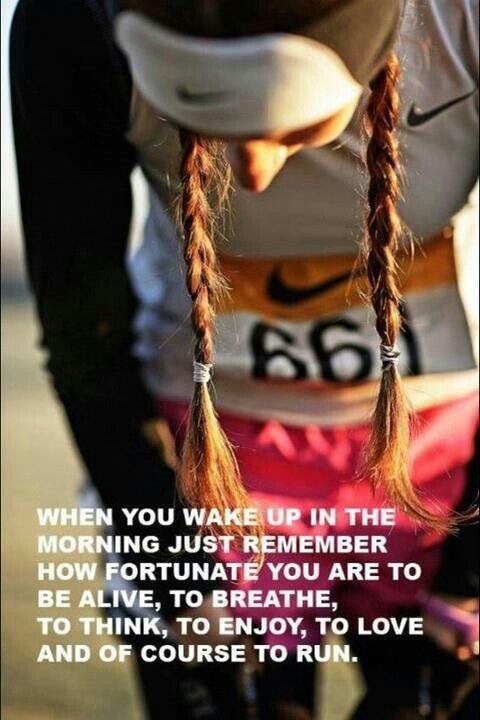 Let go, clear your mind, count your blessings, do what makes you happy..and go run!- Liza