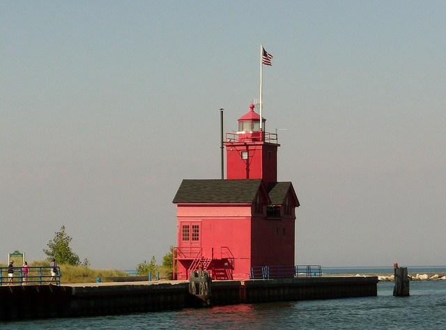 Holland Harbor, Lake Michigan