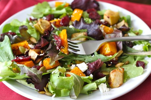 roasted-butternut-squash-apple-salad. Ingredients: butternut squash ...