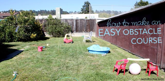 easy backyard obstacle course kid crafts pinterest