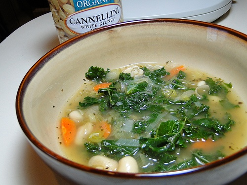 Cannellini Bean and Kale Soup | On the side | Pinterest