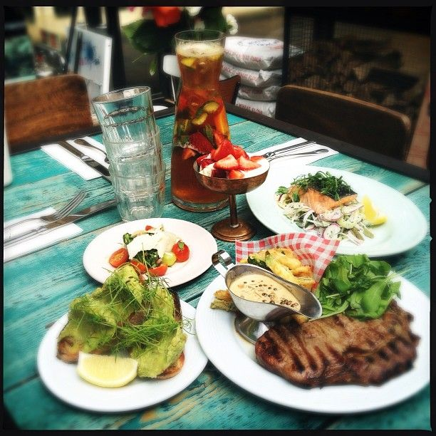 Today's specials at covent garden, rib eye steak with courgette fries ...