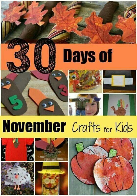 November crafts education pinterest