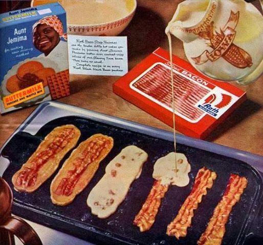 Easy Recipes to Do: Bacon Strip Pancakes | food ideas! | Pinterest