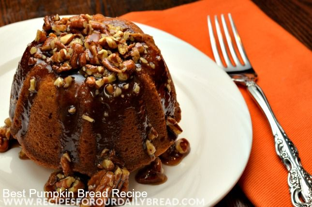 Pumpkin Bread with Praline Sauce Recipe