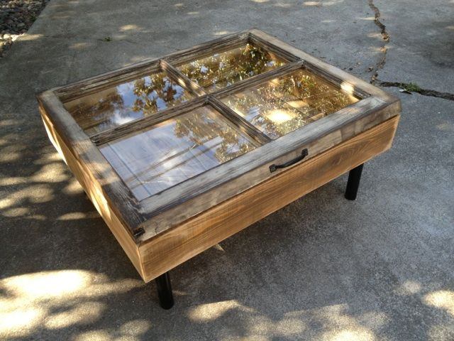 Upcycled Window Coffee Table Upcycled Furniture Pinterest