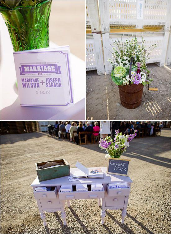 Detalles de boda en violeta