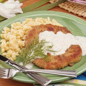 Pork Schnitzel with Sauce | Recipe