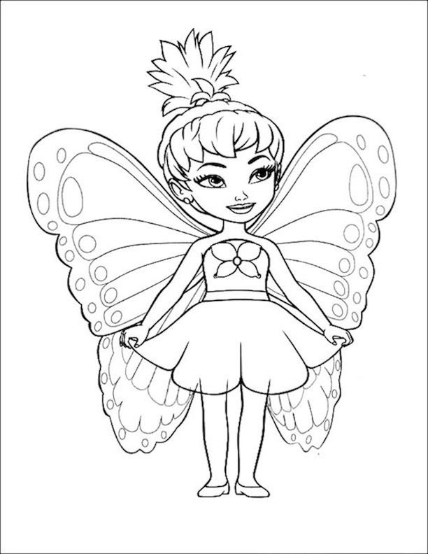 fairy coloring pages pinterest - photo#13