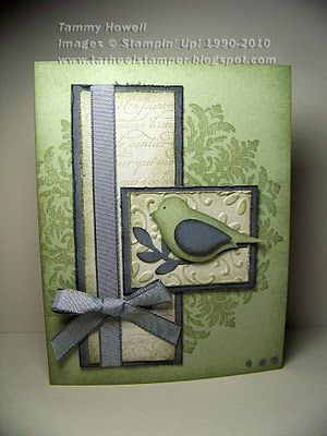 Stampin Up  Medallian, and the Bird Punch