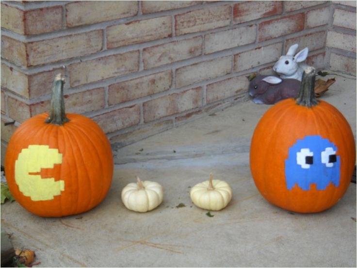 Pac Man Halloween Pumpkins Witch Way To Halloweentown