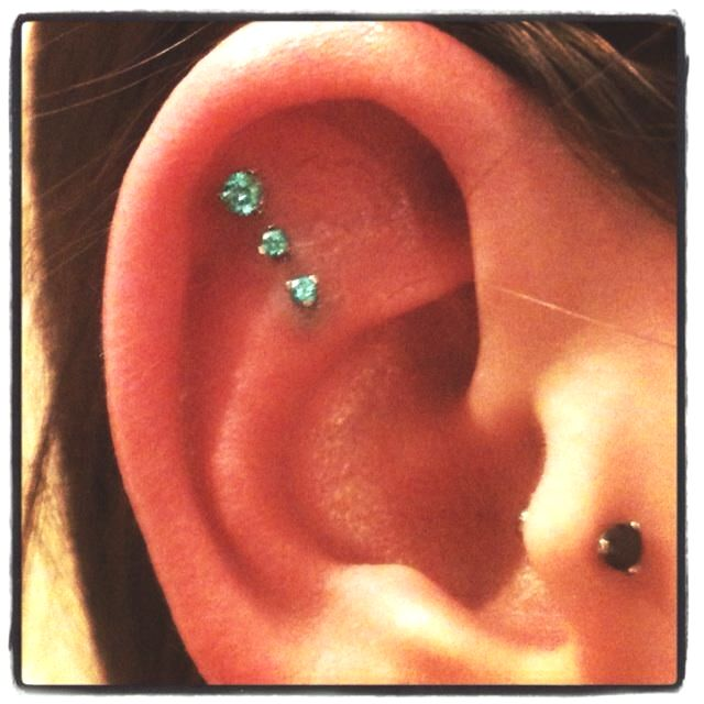 Triple-Inner Cartilage Piercing | Piercing I Will Get ...