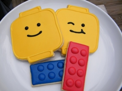 Lego Cookie Party Favors