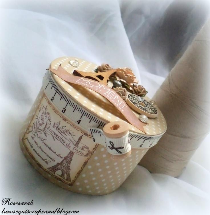 Boite couture recouverte de tissus boite pinterest for Boite a couture retro