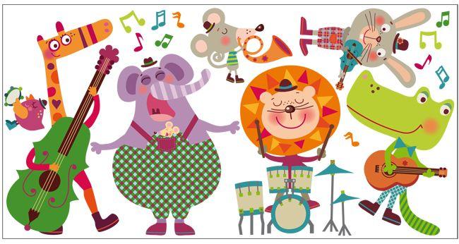 Vinilo decorativo infantil musica