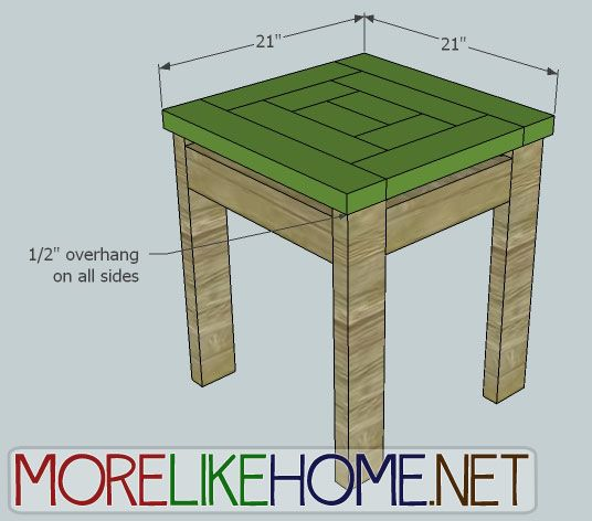 2x4 side table diy pinterest for Side by side plans