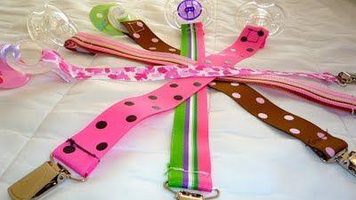 DIY Ribbon Pacifier clip