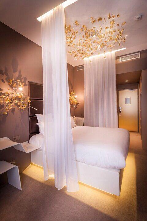ceiling drapes bedroom home interior design pinterest. Black Bedroom Furniture Sets. Home Design Ideas