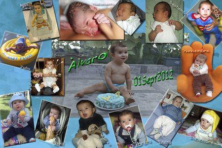 Ideas para fotos collage de beb s de 1 a 12 meses for Mural de fotos 1 ano