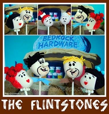 flintstones cake pops..