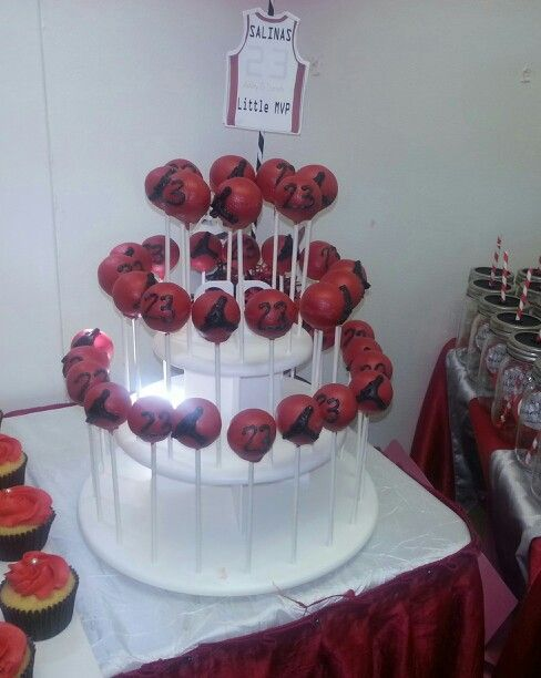 jordan theme cakepops jordan theme baby shower pinterest