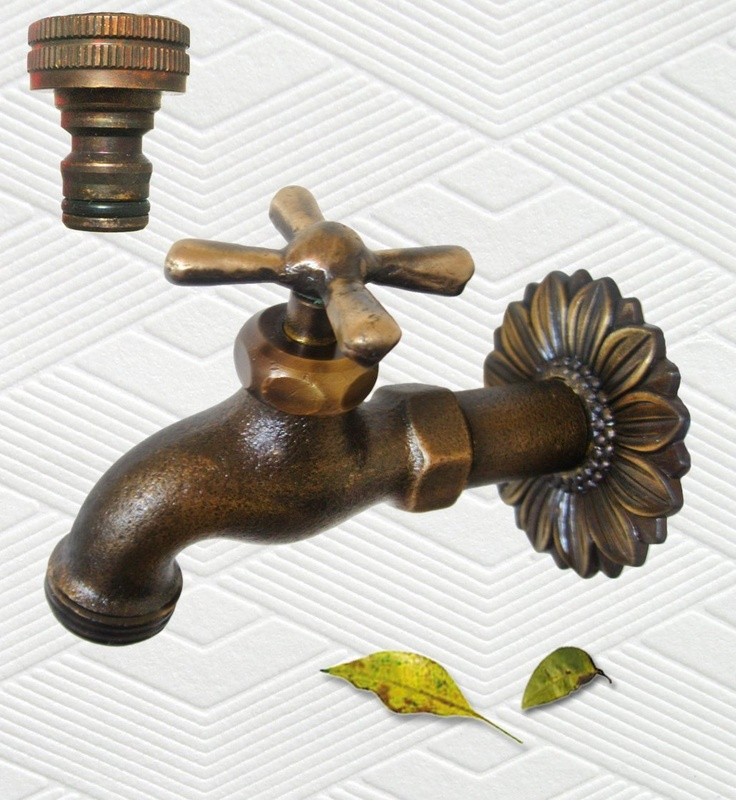 Amazon.com: Brass Cross Garden Outdoor Faucet - With a Brass Connecter ...