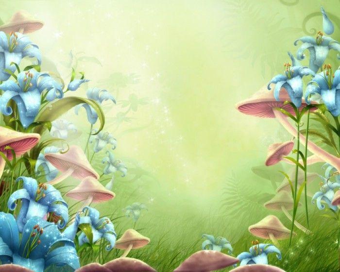 Детские фоны paintings flowers fruits birdies