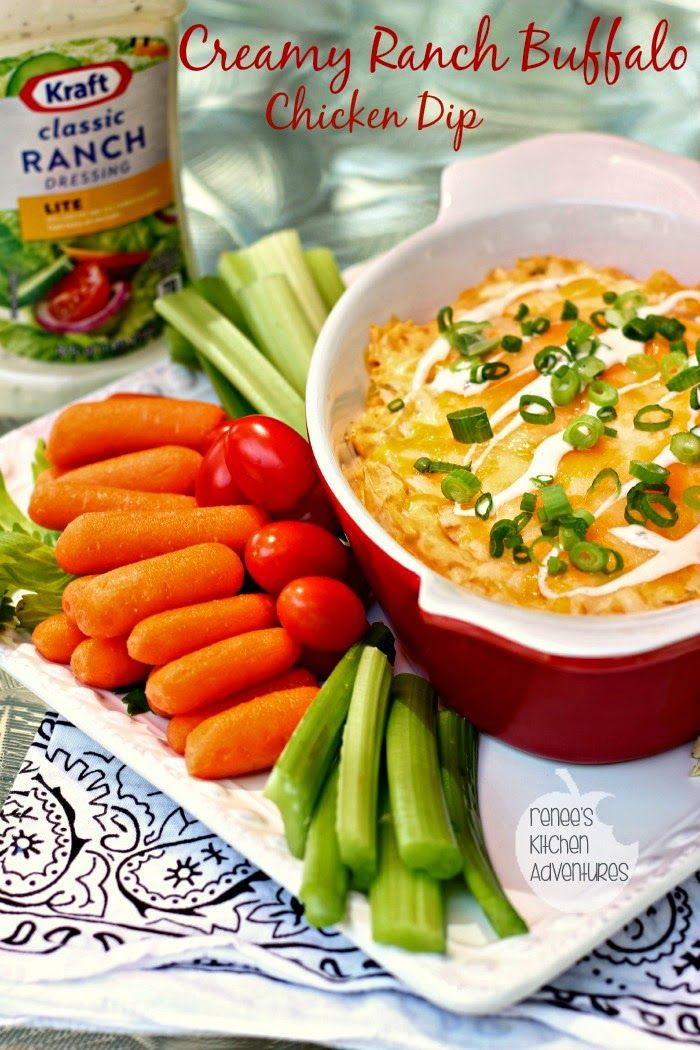 Creamy Ranch Buffalo Chicken Dip: Lighter on calories but not on ...