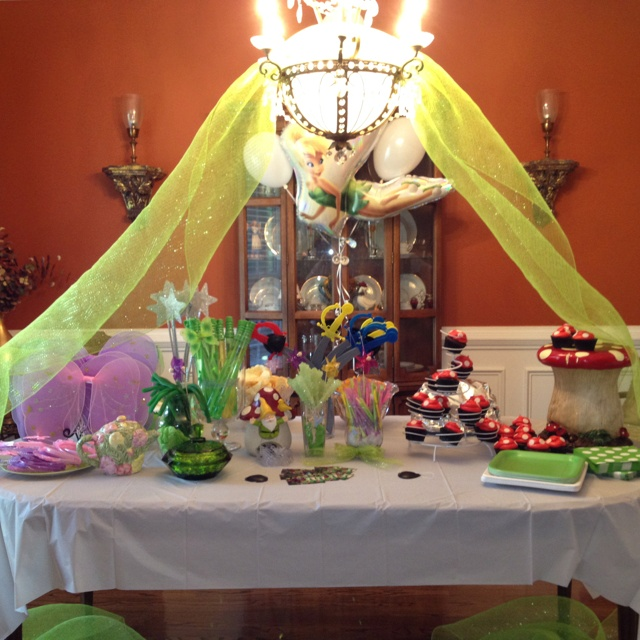 Tinkerbell birthday party decorations  birthday parties  Pinterest
