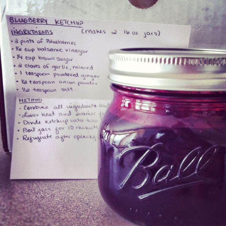 Blueberry Ketchup #foodiepenpals | Blog: EatWell.LiveWell. | Pinterest