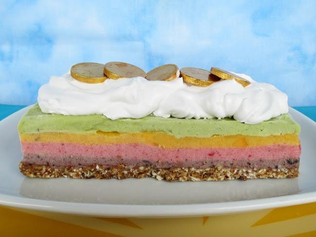 "Vanilla & Spice: Raw Rainbow ""Ice Cream"" Cake with Coconut Whip..."