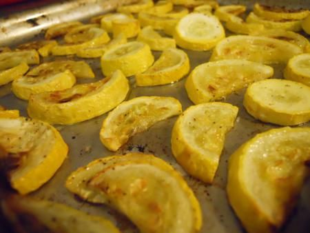 roasted yellow squash. Normally not a huge yellow squash fan, but this ...