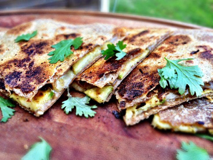 cumin-lime zucchini quesadilla | Good Eats! | Pinterest