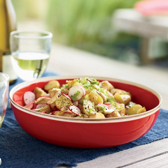Baby Potato Salad with Radishes & Celery // More Potato Dishes: http ...