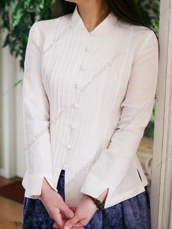 Women'S White Blouse Long Sleeve 77
