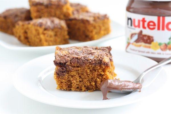 Pumpkin Nutella Snack Cake