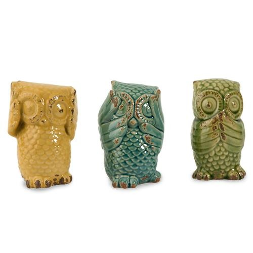 Pin by on owls pinterest - Hear no evil owls ceramic ...