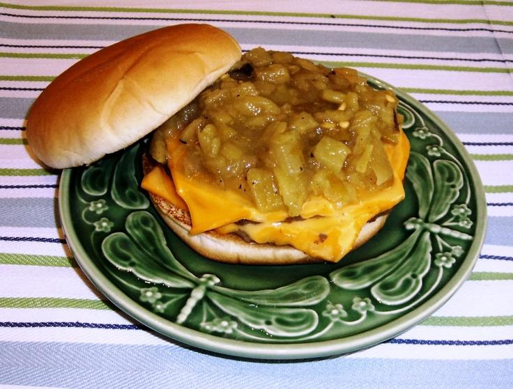 green chile cheeseburger | Green Chile Cheeseburgers! | Pinterest