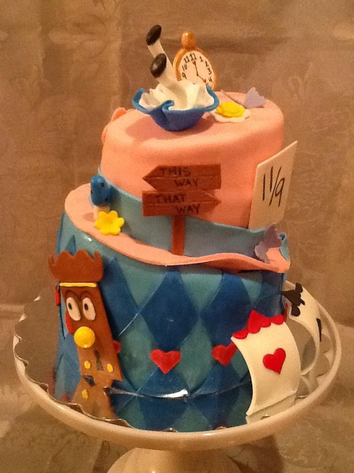 alice in wonderland baby shower cake dbear b 39 day ideas pinterest