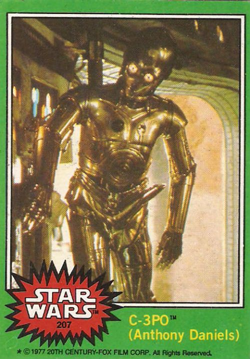 Official #StarWars trading card released in 1977 of the famous C-3PO boner prank. Thousands were distributed before the image was finally caught and fixed.
