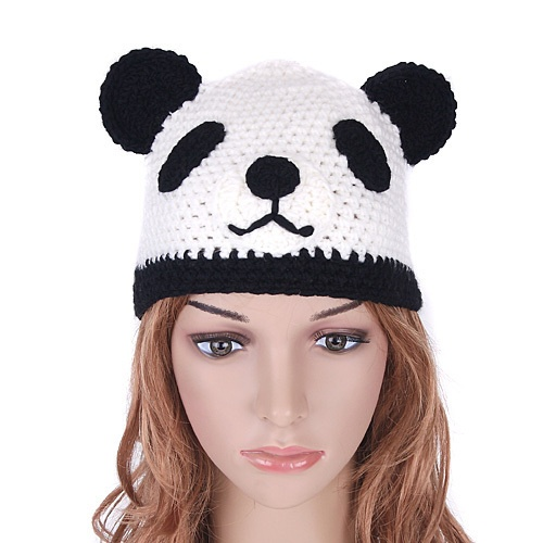 Knitting Pattern For Panda Hat : Knit Panda Hat Costume Ideas Pinterest