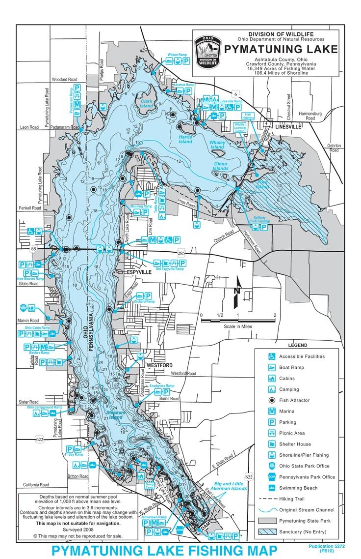 Pymatuning lake ohio nostalgia pinterest for Ohio dnr fishing