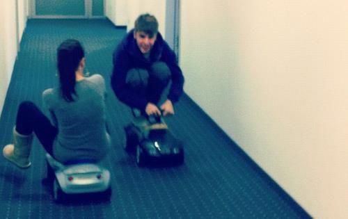 Justin Bieber and Carin Morris