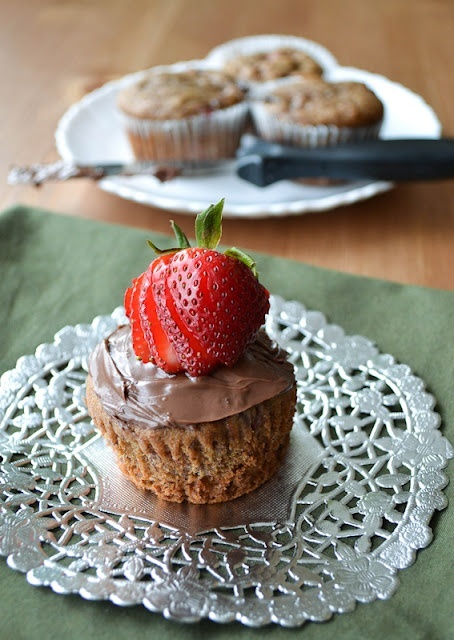 Strawberry Banana Nutella Muffins food-recipes