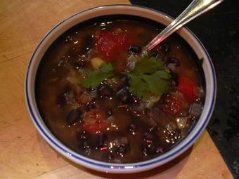 Black Bean Soup with Chipotle pepper | Nourish 4 Health | Pinterest