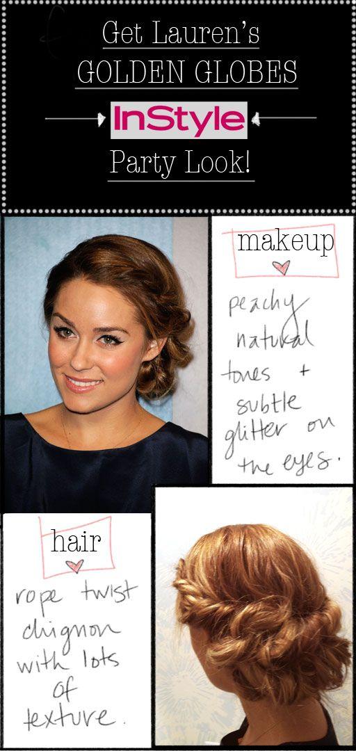 Lauren Conrad's make-up look+hairstyle