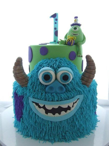Monsters Inc Cake Cake by CakeAChanceOnBelinda.