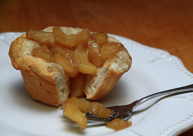 Mini Apple Pie Cups - Made with cooked apples and biscuits. So Simple!
