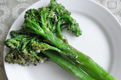 ... broccoli and Chinese kale. The florets are looser and more tender than